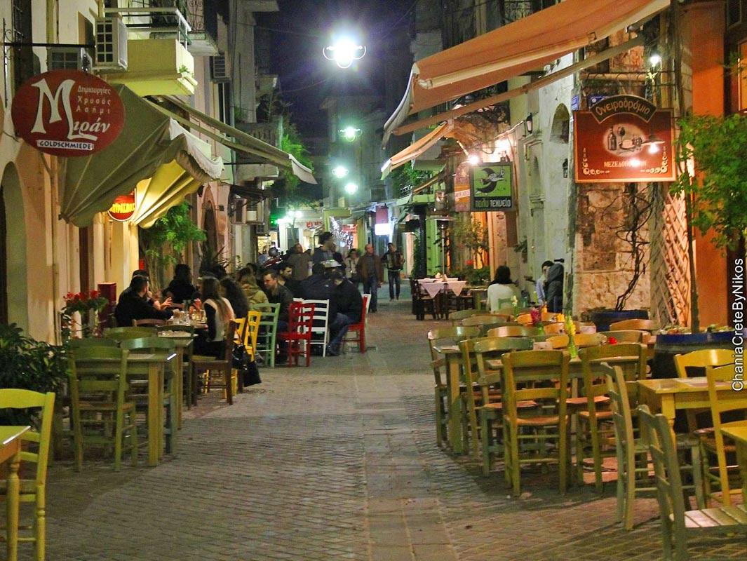 Tavernen und Restaurants, Sehenswürdigkeiten, Chania, Kreta