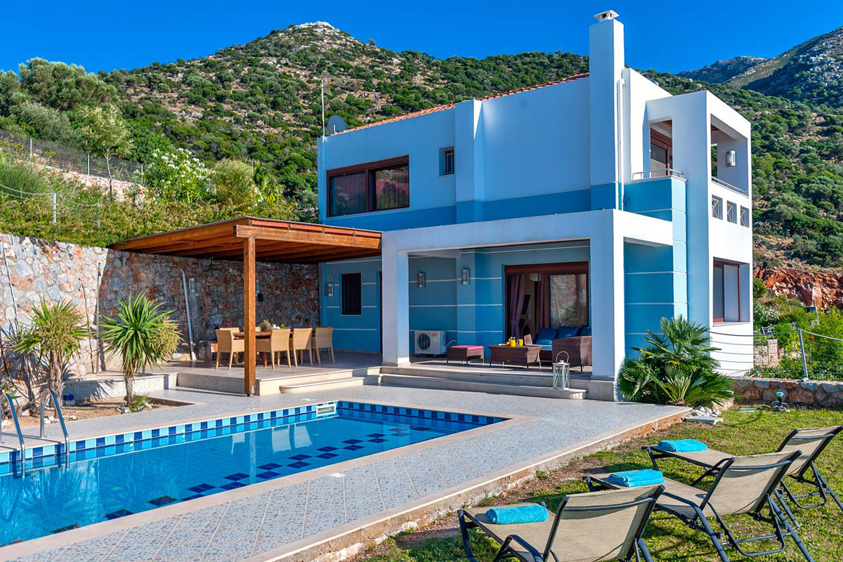 Villa electra in bali rethymno for Case modernissime