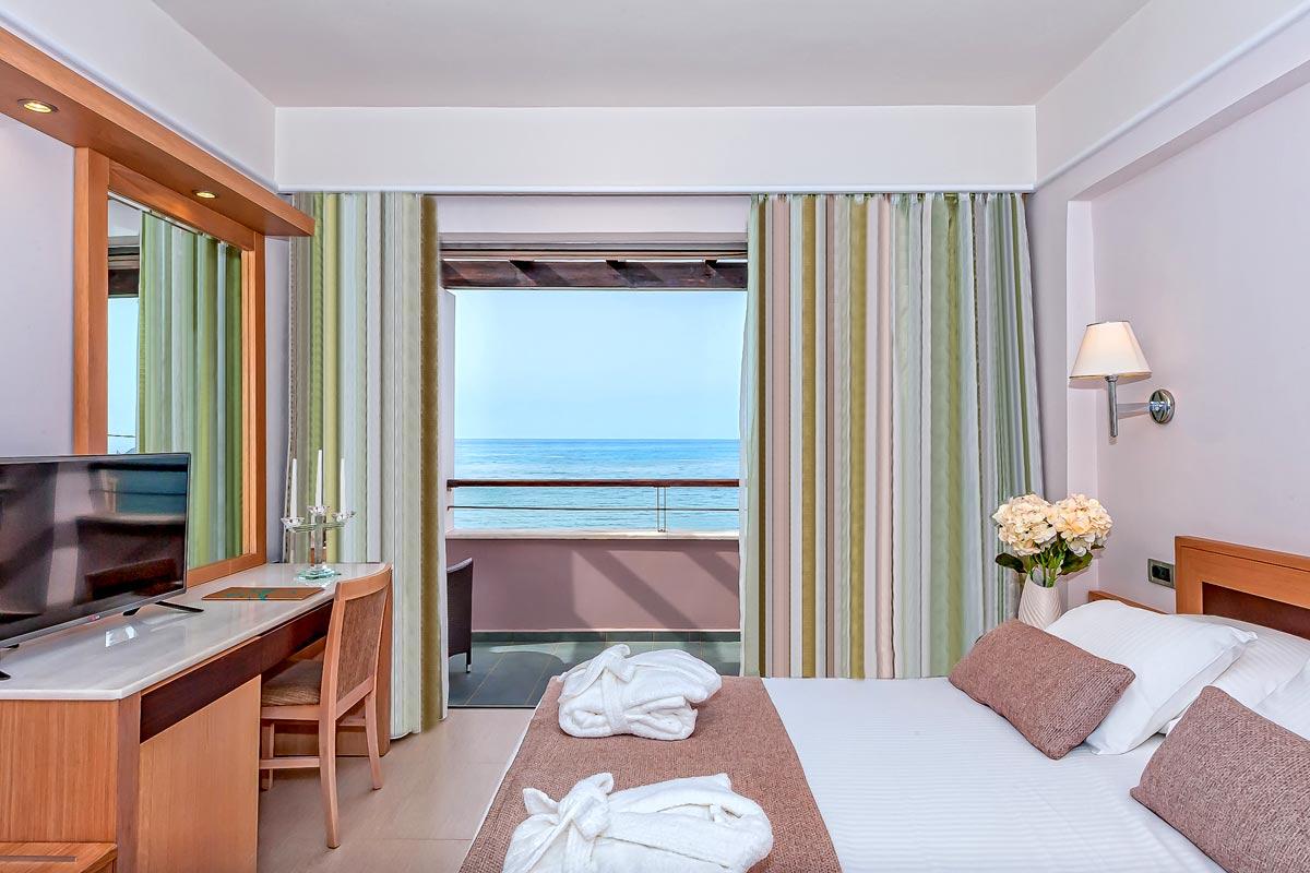 Double rooms of porto platanias beach resort in platanias thehotel porto platanias beach resort platanias double room sea view 1 sciox Choice Image