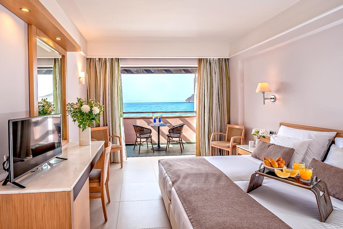 Double rooms of porto platanias beach resort in platanias thehotel double rooms porto platanias sciox Choice Image