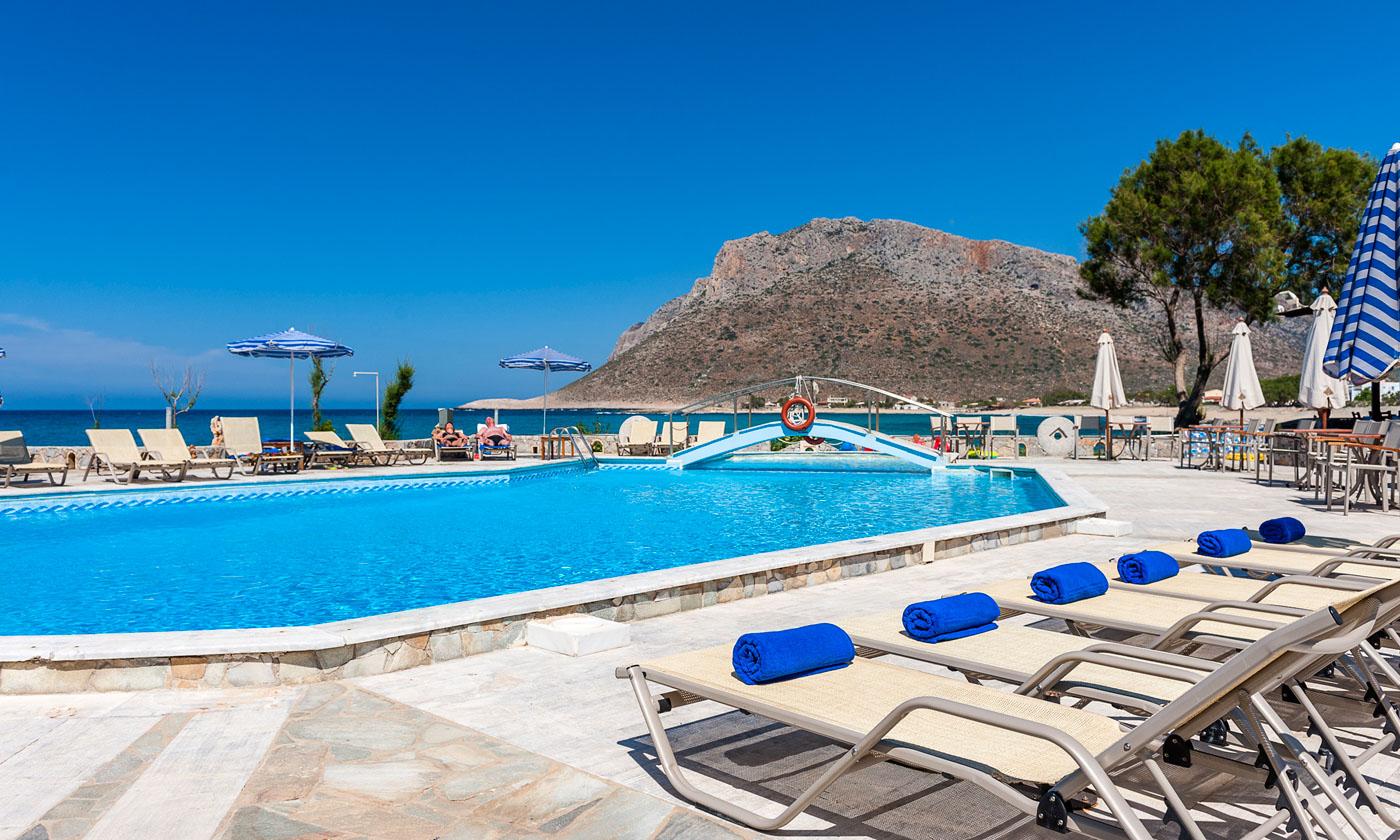 Blue Beach Apartments Stavros Pool Area 16