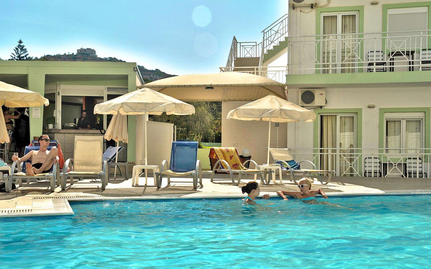 Nicolas villas in agia pelagia heraklion - Swimming pool area ...
