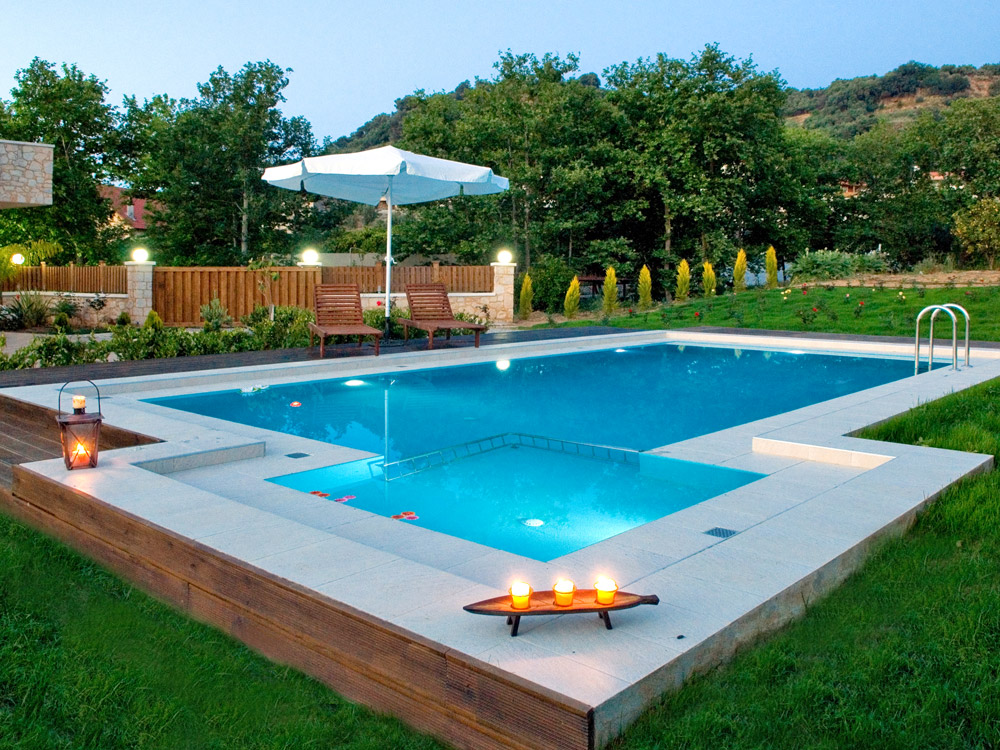 Facilities of nature heaven villa in tavronitis - Swimming pool area ...
