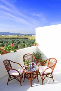 Pretty Villa, Platanias, balcony-sea-view