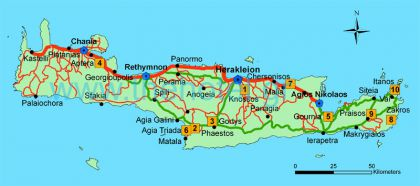 Ancient and Archaeological Sites in Crete