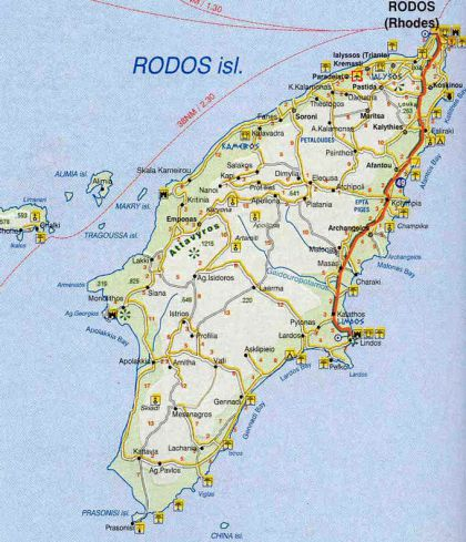 Map of Rhodes