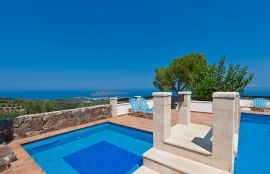Villa Georgokastelo, Stalos, pool-view-2new