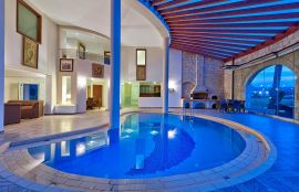 Platanias Villas, Platanias, interior-pool-1new