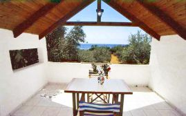Olive Tree Cottages, Paleóchora, veranda-view-sea-1