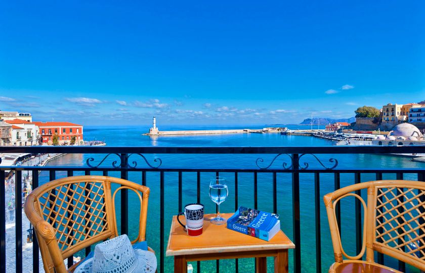 Lucia Hotel, Chania town, sea-view-IV
