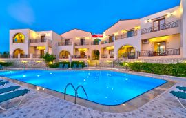 Pegasos Maisonettes, Almirida, pool-at-night-11