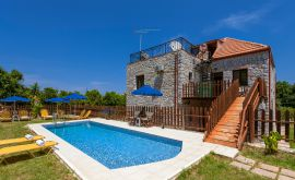 Charming Villa, Platanias, pool-area-11