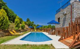 Charming Villa, Platanias, pool-area-VI