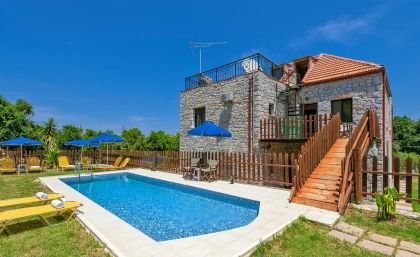 Charming Villa, Platanias, pool-area-IIa
