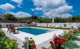 Pretty Villa, Platanias, pool-area-12