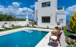Pretty Villa, Platanias, pool-area-13