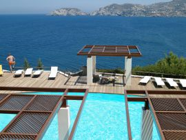 Sea Side Resort & Spa, Agia Pelagia, Sea views by pool