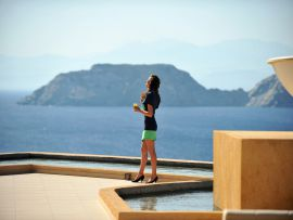 Sea Side Resort & Spa, Agia Pelagia, Views by reception