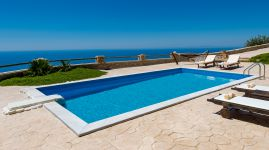 Keramos Villa, Plakias, pool-sea-view-11