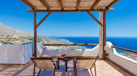 Keramos Villa, Плакиас, sea-view-veranda-11a