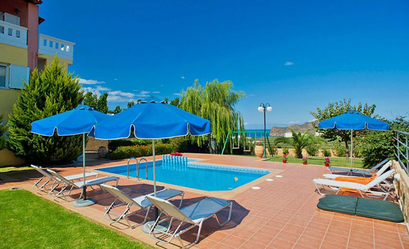Villa Grigoria, Agia Marina, swimming-pool-area-1