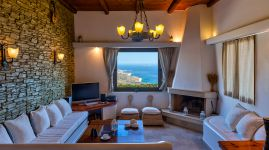 Libyan View Villa, Plakias, living-room-22a