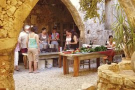 Traditional Crete, Vamos, cooking-1i