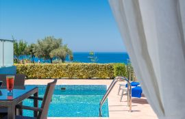 Carme Villas, Adelianos Kampos, pool-sea-view-new-2