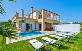 Villas Golden Beach, Agioi Apostoloi, swimming-pool-area-new-1a