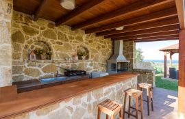 Modern Interior Villa, Maleme, barbecue area