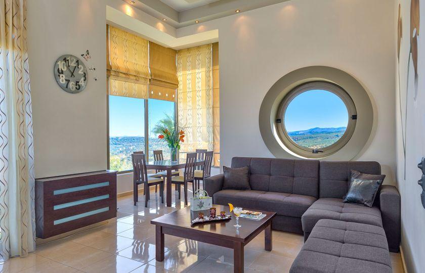 Modern interior villa in maleme chania u thehotel gr