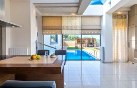 Modern Interior Villa, Maleme, pool view