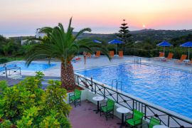 Aloni Suites, Kalathas, Aloni Suites swimming pool sunset 2