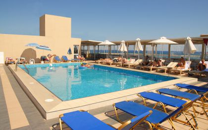 Achillion Palace, Rethymno town, swimming-pool-terrace
