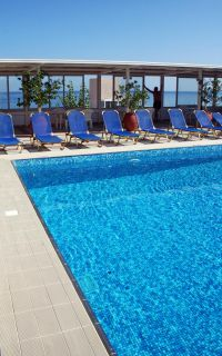 Achillion Palace, Rethymno town, swimming-pool-terrace-2