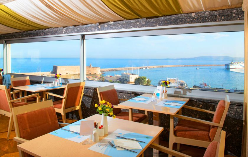 Marin Dream Hotel, Heraklion Town, view-restaurant