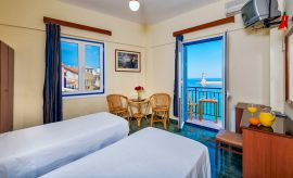 Lucia Hotel, Chania (Byen), double-room-sea-view-1a