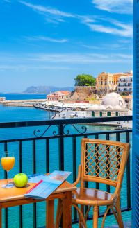 Lucia Hotel, Chania town, double-room-sea-view-balcony-1