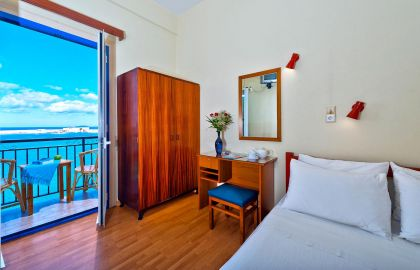 Lucia Hotel, Chania (Byen), double-room-sea-view-big