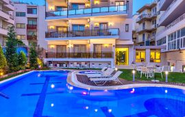 Leonidas Hotel and Apartments, Rethymno town, Pool area
