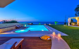 Beachfront Villa, Hersonissos, Pool area