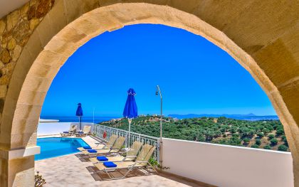 Ilios Villas, Stalos, Sea view from your veranda