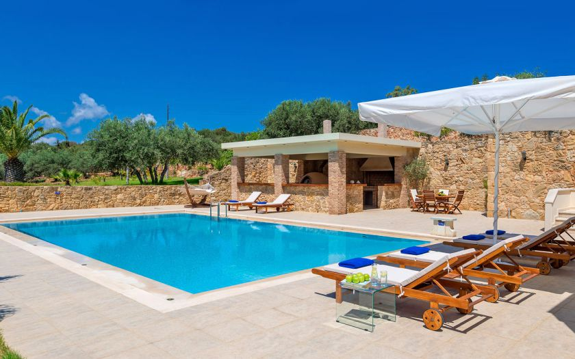 Villa Comfort, Chania town, Pool area