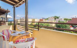 John Apartments, Platanias, Balcony in one bedroom apartment