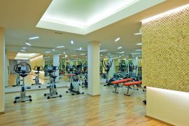 Porto Platanias Beach Resort, Platanias, Gym area