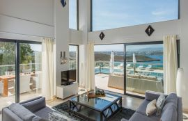 Divine Villas, Tersanas, Living room with sea view