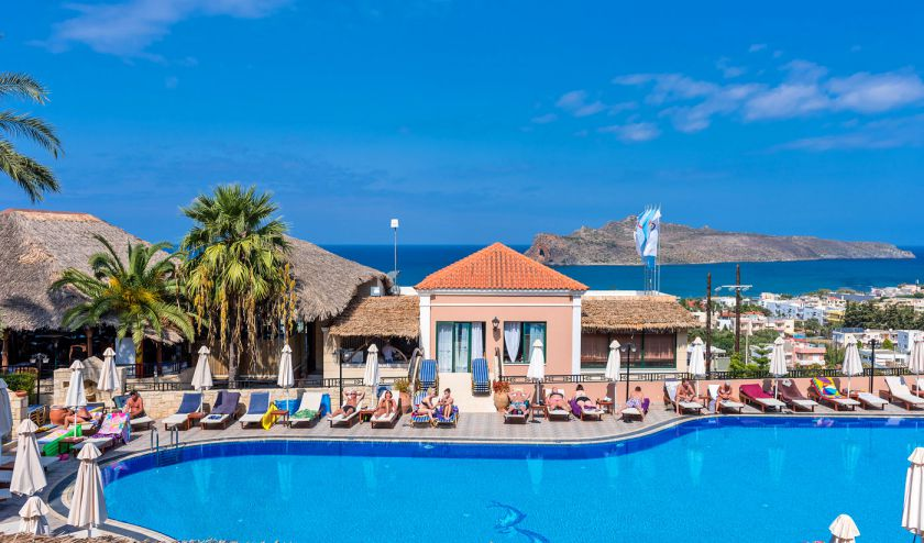 Seaview Apartment, Agia Marina, Pool area