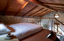 Stone Villa, Терзанас, Double bed in the 1-bedroom Villa