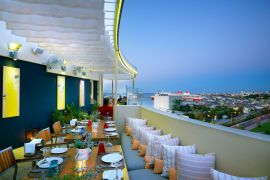 Lato Boutique Hotel, Heraklion Town, Roof garden restaurant with panoramic view