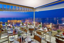 Lato Boutique Hotel, Πόλη Ηρακλείου, Roof garden restaurant with panoramic view